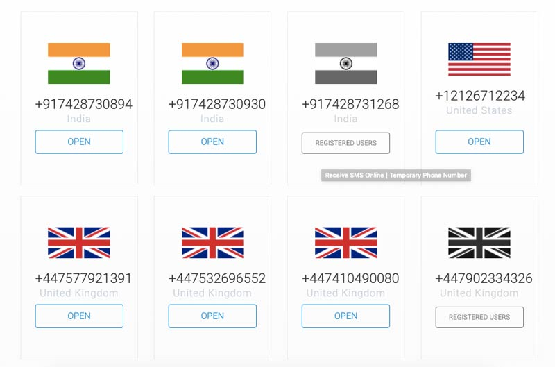 Indian Number OTP Bypass Website